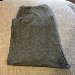 LuLaRoe heathered gray OS leggings BNWOT